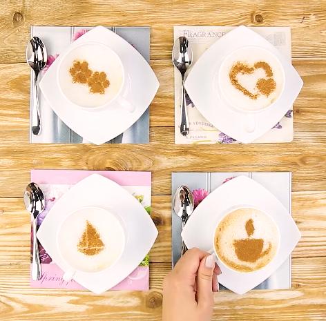 Bạn cũng có thể tạo nhiều hình khác nhau để sáng tạo hơn cho cốc cà phê của mình nhé!